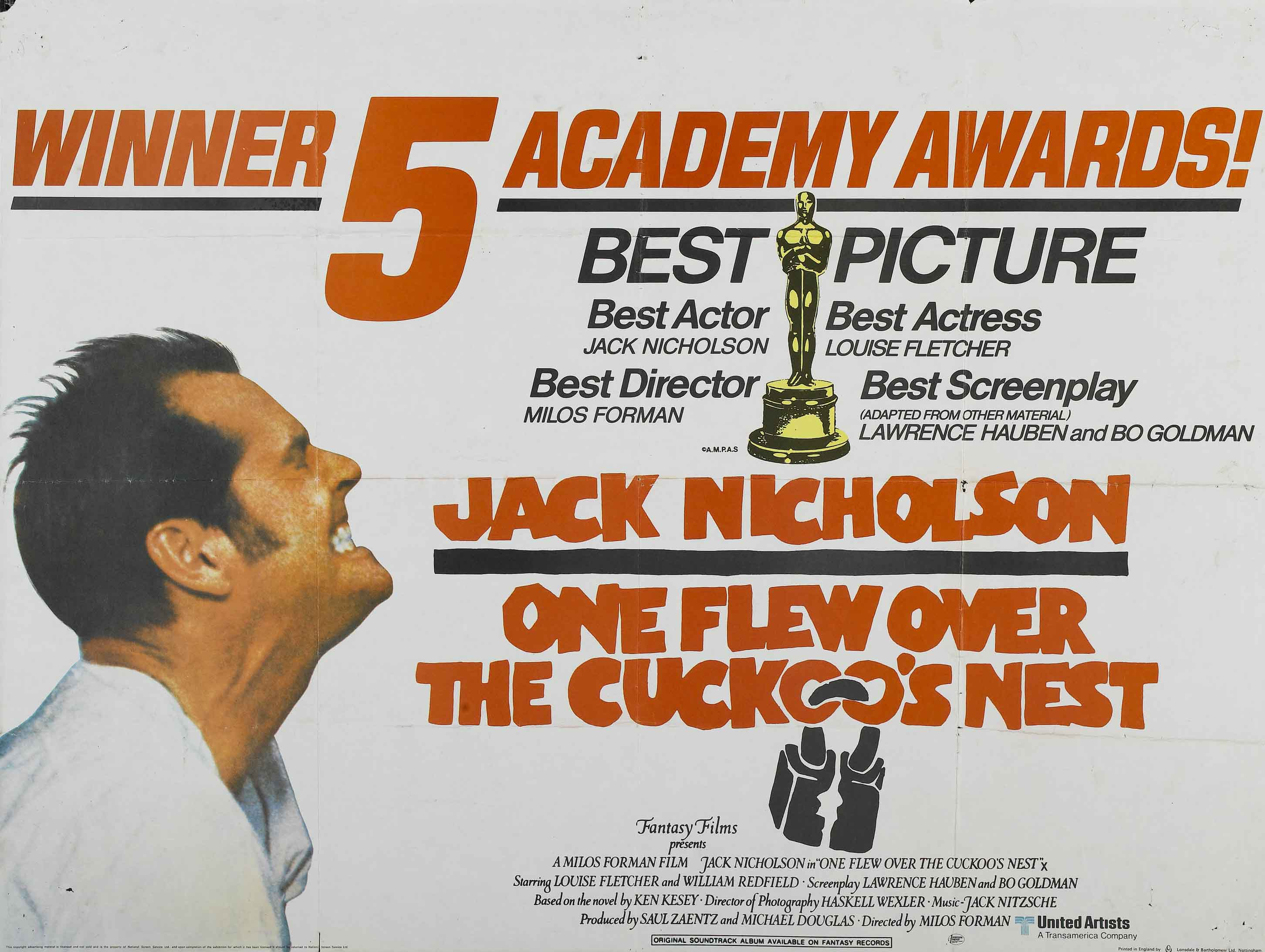 one flew over the cuckoos nest One flew over the cuckoo's nest by dale wassermen, adapted from the  novel by ken kesey a charming rogue contrives to serve a short sentence in.